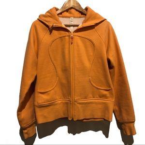 Lululemon Athletica Orange Scuba Zip Up Hoody 10